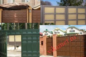 Филенчатые ворота Каскад в городе Ломоносов
