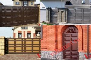 Филенчатые ворота Каскад в городе Лянтор