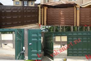 Филенчатые ворота Каскад в городе Лысково