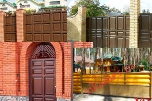 Филенчатые ворота Каскад в городе Людиново