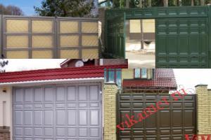 Филенчатые ворота Каскад в городе Магадан