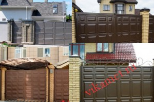 Филенчатые ворота Каскад в городе Малоярославец