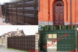 Филенчатые ворота Каскад в городе Маркс