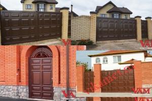 Филенчатые ворота Каскад в городе Мезень