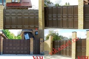 Филенчатые ворота Каскад в городе Могоча