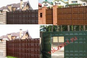 Филенчатые ворота Каскад в городе Мончегорск