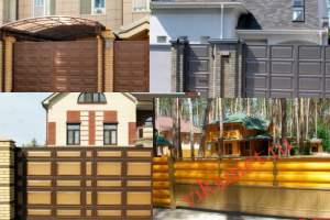 Филенчатые ворота Каскад в Московской области