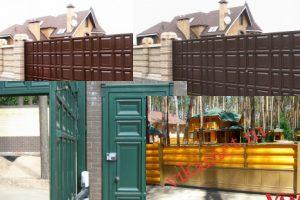 Филенчатые ворота Каскад в городе Московский