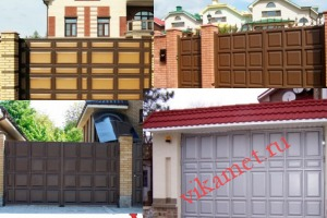 Филенчатые ворота Каскад в городе Мытищи