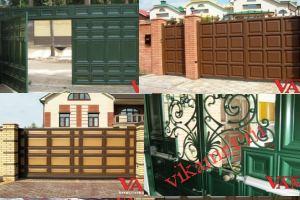 Филенчатые ворота Каскад в городе Нелидово