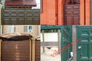 Филенчатые ворота Каскад в городе Нерюнгри
