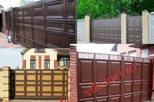 Филенчатые ворота Каскад в городе Николаевск