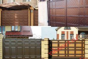 Филенчатые ворота Каскад в городе Новочеркасск