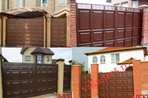 Филенчатые ворота Каскад в городе Новохоперск