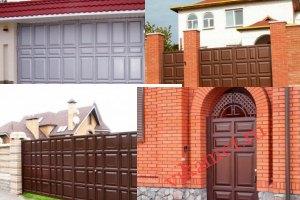 Филенчатые ворота Каскад в городе Новошахтинск