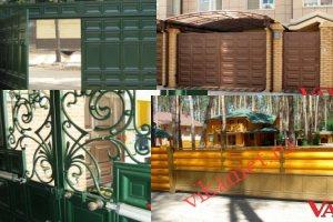 Филенчатые ворота Каскад в городе Новый Уренгой