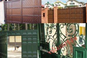 Филенчатые ворота Каскад в городе Облучье