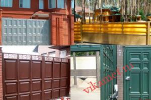 Филенчатые ворота Каскад в городе Олекминск