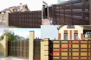 Филенчатые ворота Каскад в городе Оренбург