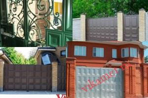 Филенчатые ворота Каскад в городе Печора