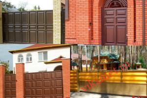 Филенчатые ворота Каскад в городе Петров Вал