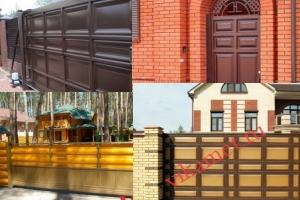 Филенчатые ворота Каскад в городе Почеп