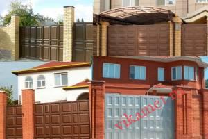Филенчатые ворота Каскад в городе Починок