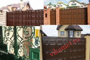 Филенчатые ворота Каскад в городе Подольск
