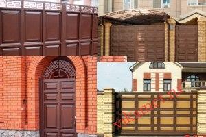 Филенчатые ворота Каскад в городе Порхов