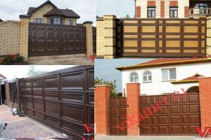 Филенчатые ворота Каскад в городе Приволжск