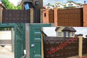 Филенчатые ворота Каскад в городе Прокопьевск
