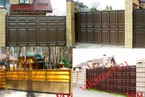 Филенчатые ворота Каскад в городе Псков