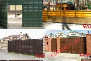 Филенчатые ворота Каскад в городе Ревда