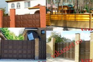 Филенчатые ворота Каскад в городе Россошь