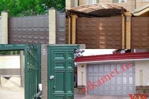 Филенчатые ворота Каскад в городе Рузаевка