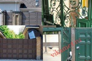 Филенчатые ворота Каскад в городе Сасово