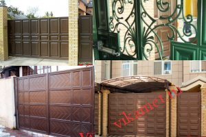Филенчатые ворота Каскад в городе Сатка