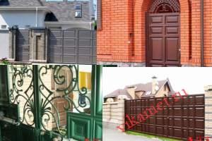 Филенчатые ворота Каскад в городе Сергач