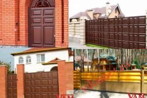 Филенчатые ворота Каскад в городе Серпухов