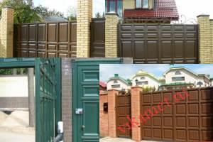 Филенчатые ворота Каскад в городе Северо-Курильск