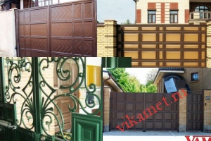 Филенчатые ворота Каскад в городе Северск