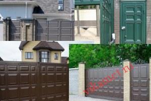 Филенчатые ворота Каскад в городе Севск