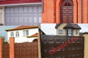 Филенчатые ворота Каскад в городе Шагонар