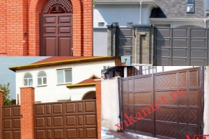 Филенчатые ворота Каскад в городе Шелехов
