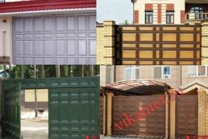 Филенчатые ворота Каскад в городе Шенкурск