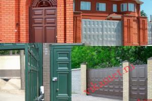 Филенчатые ворота Каскад в городе Шиханы