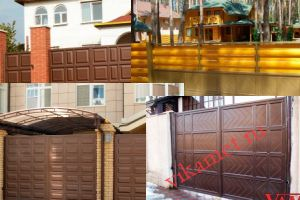 Филенчатые ворота Каскад в городе Шуя