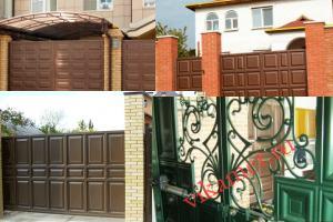 Филенчатые ворота Каскад в городе Сольцы