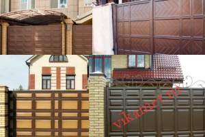 Филенчатые ворота Каскад в городе Сосногорск