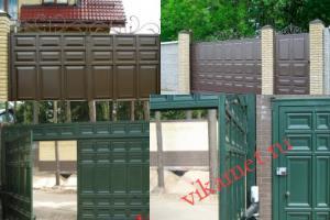 Филенчатые ворота Каскад в городе Старая Купавна